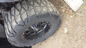 37 x13.5 mud grapplers on -24  18 inch rims