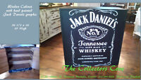 HAND PAINTED LIQUOR CABINET ON SALE