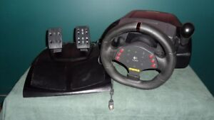 Logitech Momo racing wheel and pedals