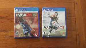 Madden NFL 15 + NBA 2K15 (PS4)