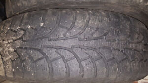 Four winter tires on rims 215 60 16