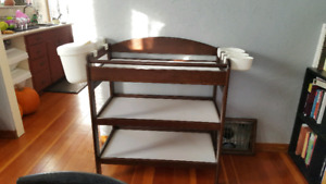 Caramia solid pine change table with Ikea extras