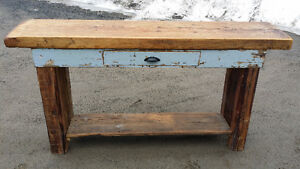 Kitchen Island (hutch?) hand built with reclaimed barn materials