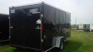 7 BY 14 SINGLE AXLE LOOK ENCLOSED TRAILER London Ontario image 3