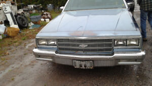 1984 Chev Impala Parts only (No engine-Trans)