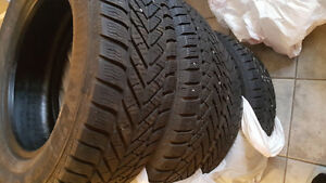 225 60 16    x4 winter tires good year