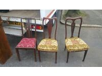 3 beautiful vintage Victorian chairs in immaculate condition £99!