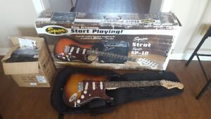 squier guitar and amp - starter package