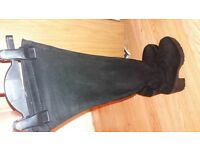 size 5 black over knee boots