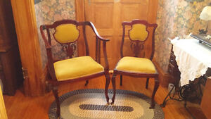 Antique Settee and Chairs
