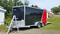 Enclosed trailer skin repair