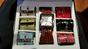 KESSARIS WATCH WITH 7 INTERCHANGEABLE  BANDS