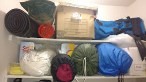 Barely Used Camping Equipment, Sleeping Bags & Backpacks