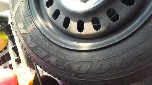 winter tires on steel wheels Cambridge Kitchener Area image 2