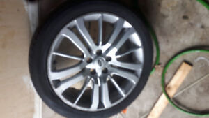Land Rover rims with Pirelli tires