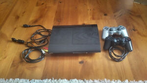 Playstation 3 / PS3 with 2 controllers, wireless headset, games