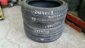 Pair of 2 Continental ContiProContact 245/40R18 tires (40% tread