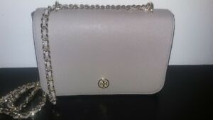 Tory Burch Cross Body, Gray Chain. AMAZING deal!!  Authentic