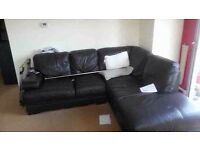 Corner sofa leather can be delivered
