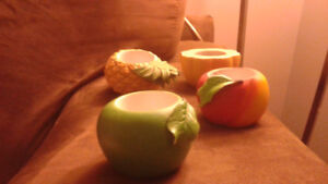 Fruit candle holders