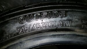 honda civic tires 2 new and 2 6/32 for $200