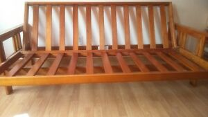 WOODEN FUTON FRAME WITHOUT CUSHION FOR SALE