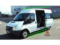2009 FORD TRANSIT 2.2TDCi DURATORQ 140PS 300M MED ROOF SHUTTLE MWB TREND WHITE