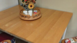 Wooden Kitchen table and 2 chairs