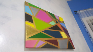 30x24 inches multicolour wall painting