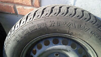Uniroyal Tiger Paw Winter Tires and Steele Rims
