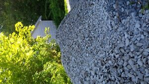 """1 ton truck load of gravel - 1"""" coarse crushed rock"""