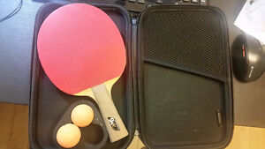 High quality table tennis bat with hard case and balls