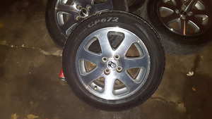 Tires and rims off Honda in great shape balanced