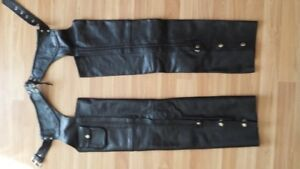 Ladies motorcycle leather chaps
