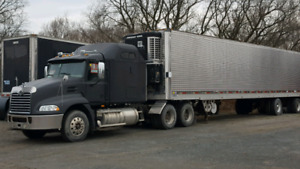 Mack bunk truck stainless refer 48' trailer ready to go cheap