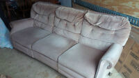 DOUBLE RECLINING SOFA COUCH - RECLINES AT BOTH ENDS