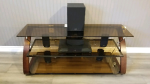 Media Unit TV Stand and Home Theater System