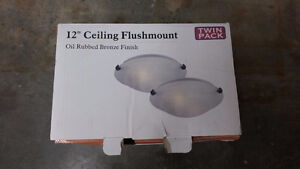 "12"" ceiling flushmount dual pack of lights"