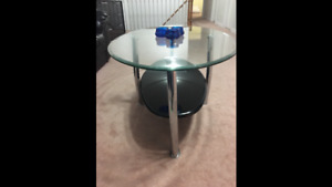 Centre table and two side tables