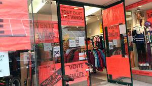 Vente de Faillite-  6529 Rue St.Hubert -Magasin de Sports!30 jrs