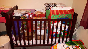 3 in 1 Crib & Mattress Bought Two Years Ago For Nanas House. Belleville Belleville Area image 1