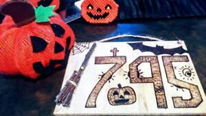 Custom Halloween House Number Signs!