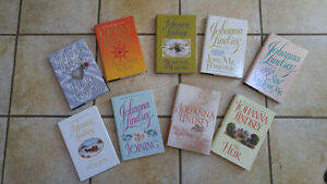 ROMANCE BOOKS 9 ALL BY JOHANNA LINDSEY - HARD COVER