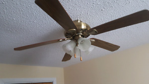 Ceiling fans and light fixtures