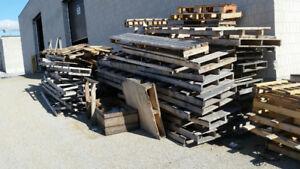 skids, pallets, free wood