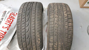 Size 225/50R17 all season tires, barely used.