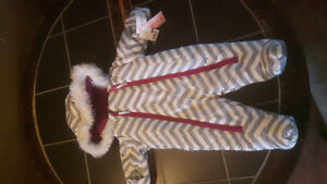 Snowsuit with tags