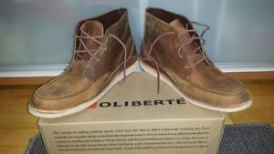 (OLIBERTE) 100% LEATHER BOOTS SZ 12 (BRWN) NEW IN BOX (PD $190)