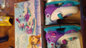 Girls frozen adjustable skates new size Y12 -2