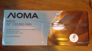 "NOMA ""Miles"" 52 inch Ceiling fan with Remote --- NEW, IN BOX"